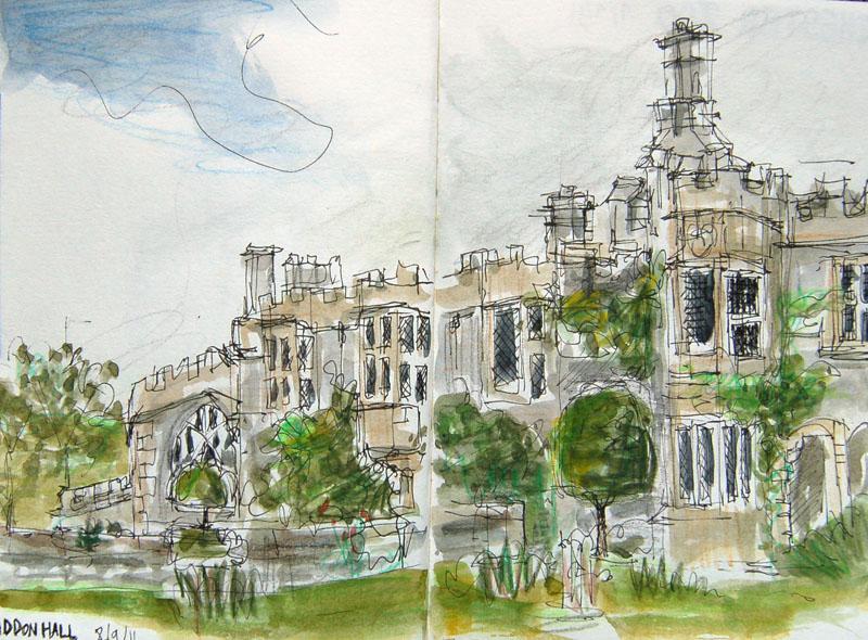 Haddon hall sketch