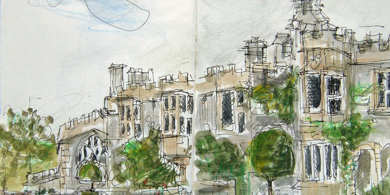 Haddon hall sketch