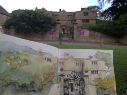 Eyam Sketch in progress
