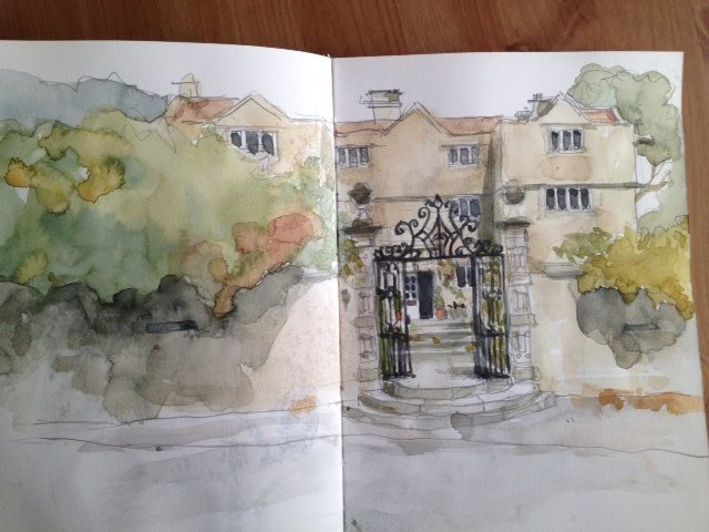 Eyam Hall sketch