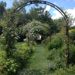 Eyam hall garden