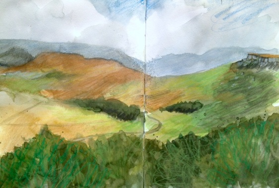 Stanage Sketch 1st August 2013