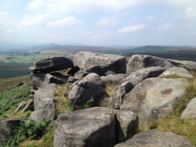 The Great Ridge (left) from Stanage