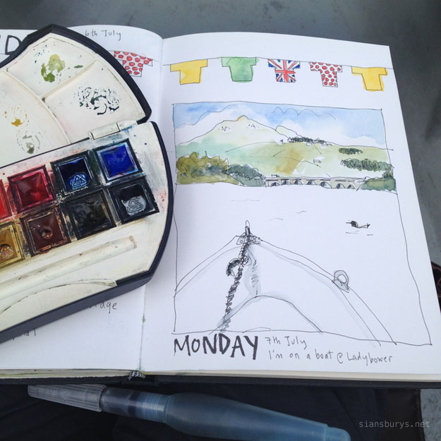 Sketching at Ladybower