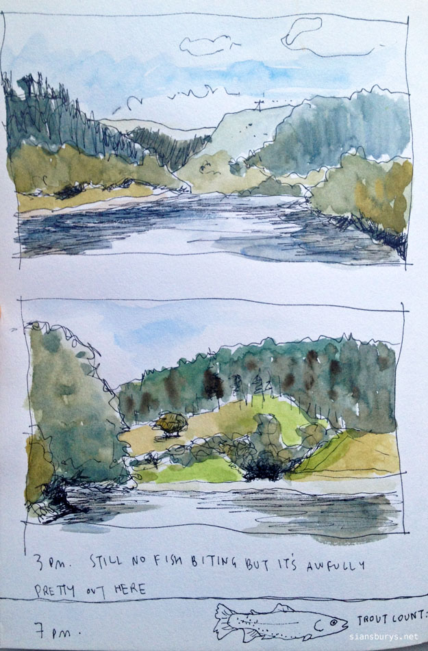 Landscape sketching at ladybower