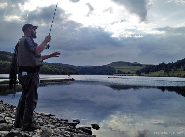 Fly fishing at Ladybower
