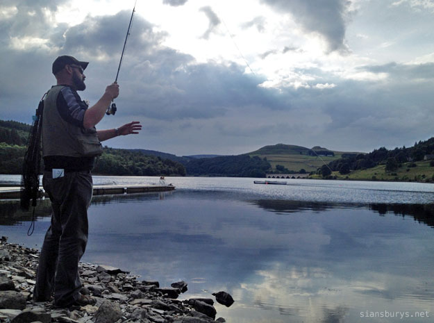 Fly fishing at Ladybower