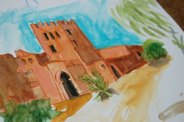 souss-massa national park sketch