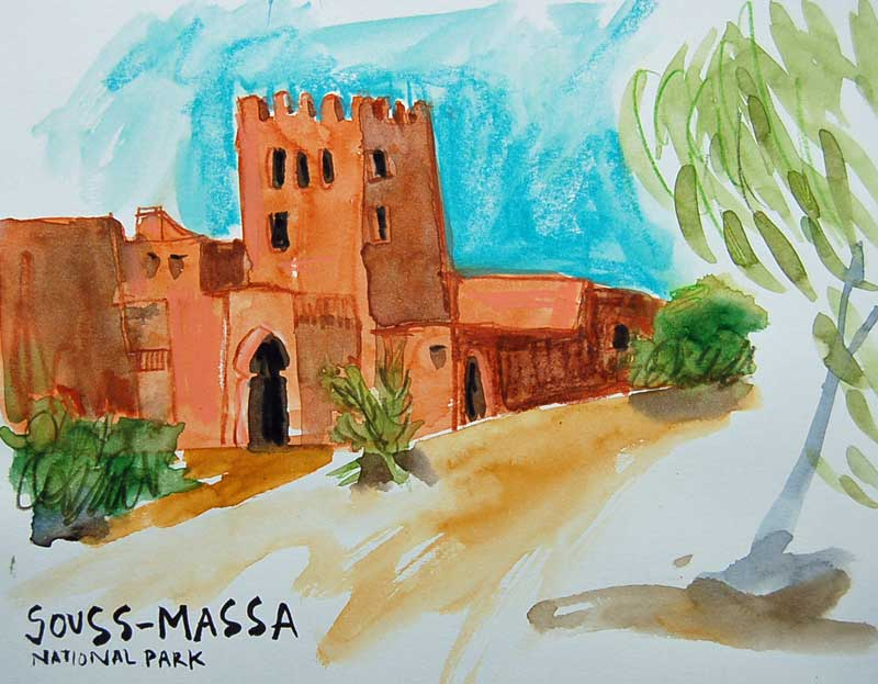 souss-massa national park sketch