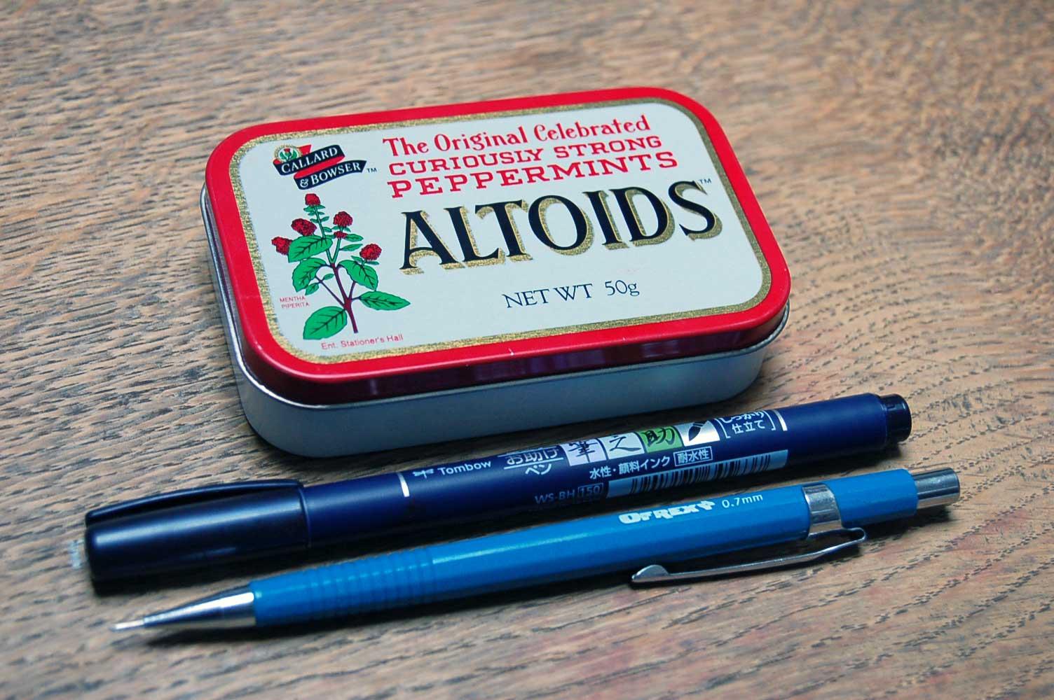 Altoids tin watercolour travel set