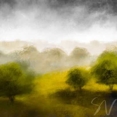 Driffield countryside sketch - digital art by Sian Vernon