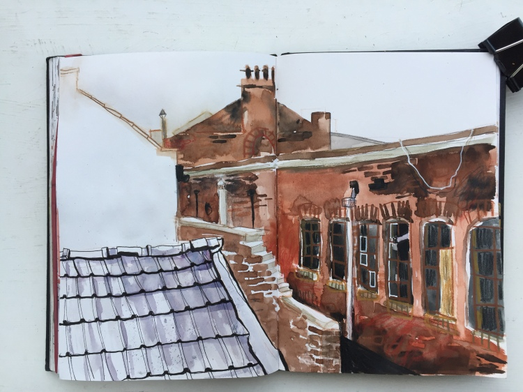 Portland Works, Sheffield - urban sketch by Sian Hughes