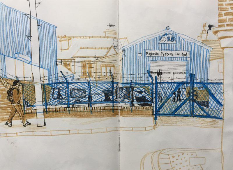 Denby Street, Sheffield - sketch by Sian Hughes urban sketcher