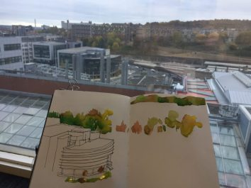Urban Sketching, Sheffield Hallam University, Park Hill