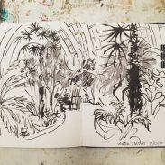 Winter Garden Sheffield, original drawing by Sian Hughes