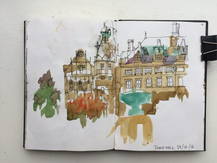 Sheffield Town Hall Sketch