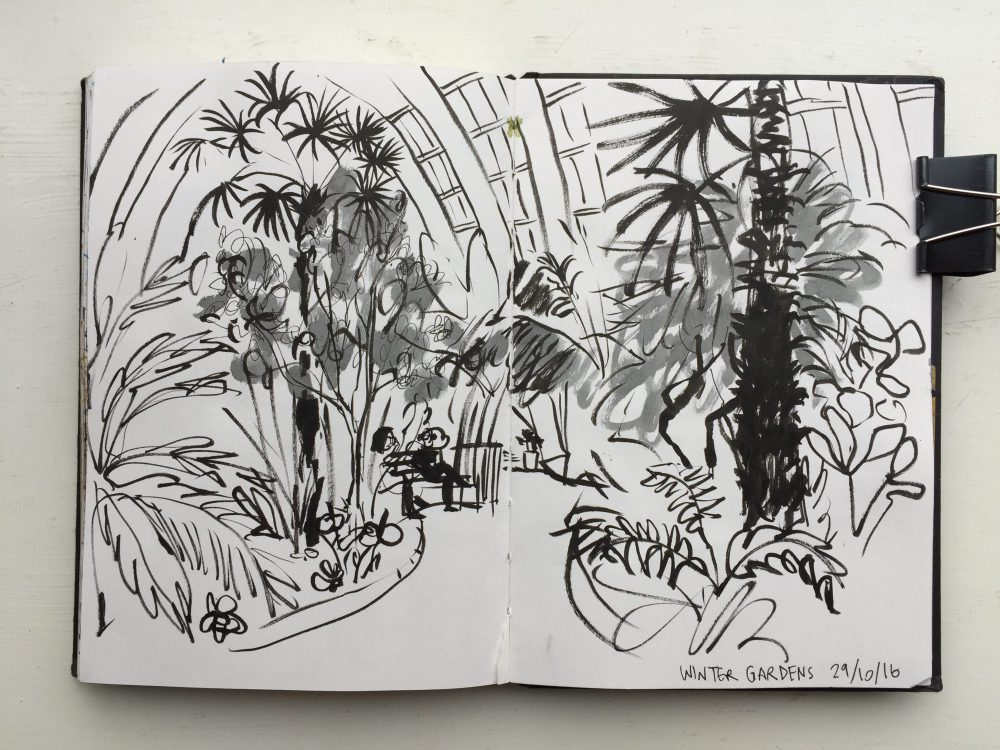 Sheffield Winter Garden Sketch Sketchbook