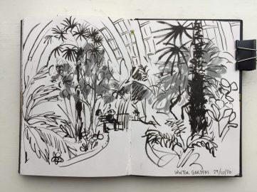 Sheffield Winter Garden Sketch Sketchbook