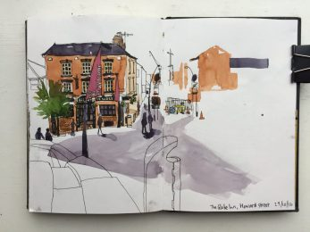 Sheffield Globe Inn Sketch