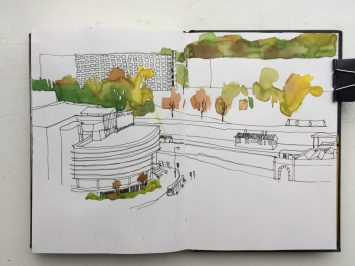 Sheffield Park Hill Electric Works Sketch