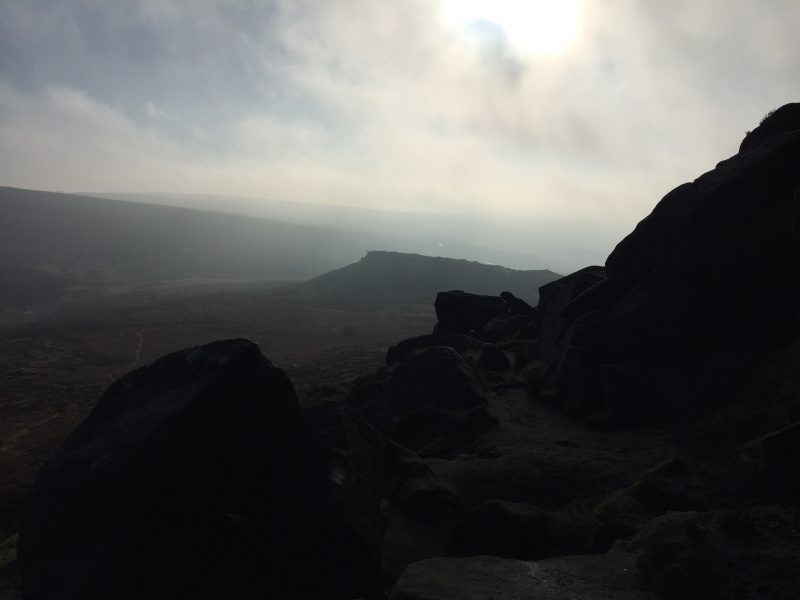 Carl Wark from Higger Tor Burbage, Peak District, by Sian Hughes