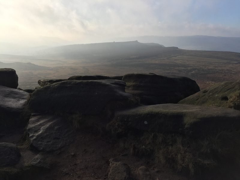 Over Owler Tor from Higger Tor Burbage, Peak District, by Sian Hughes