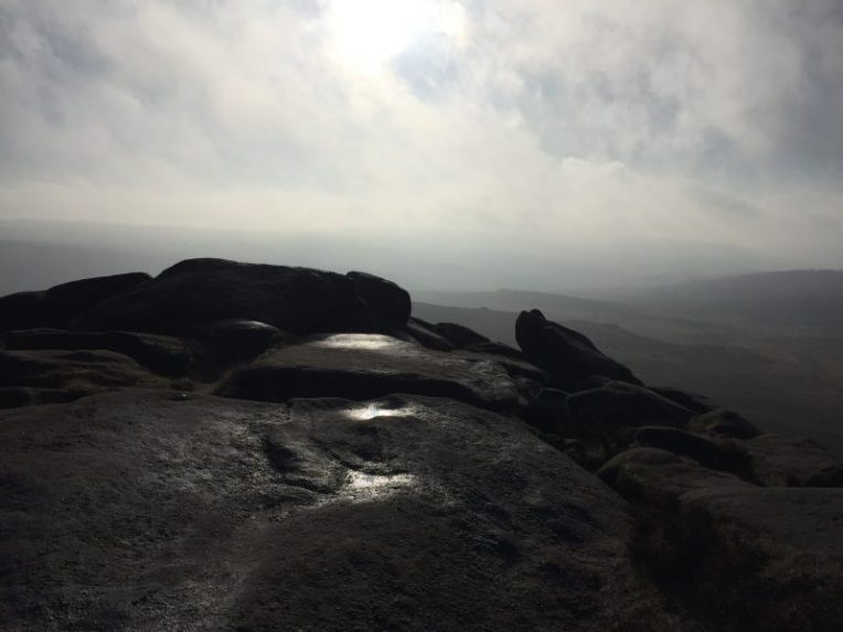 Hathersage Moor from Higger Tor Burbage, Peak District, by Sian Hughes