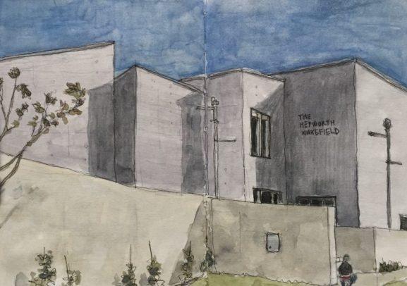 The Hepworth Gallery, Wakefield - sketch by Sian Hughes