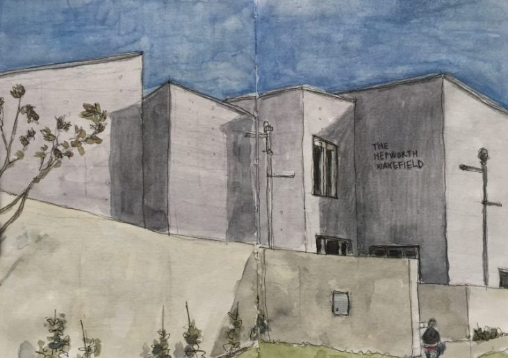 The Hepworth Gallery, Wakefield - sketch by Sian Hughes