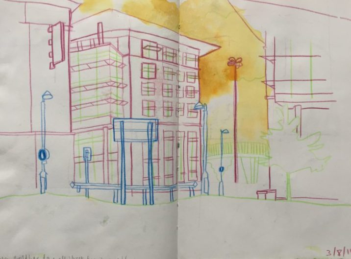 Sheffield in Colour, sketch by Sian Hughes