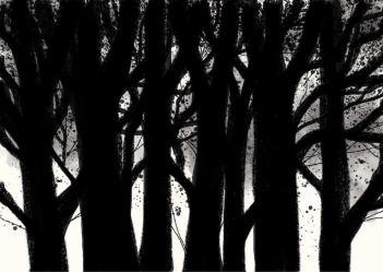 Dark Forest illustration by Sian Hughes