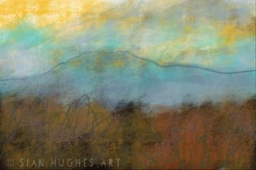 Autumn Moorland Sunset - Peak District Landscape art for sale