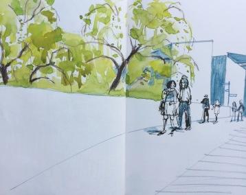Hepworth Wakefield urban sketch by Sian Hughes