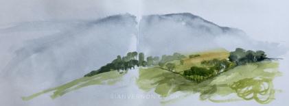High Lees, Hathersage - Peak District Sketch