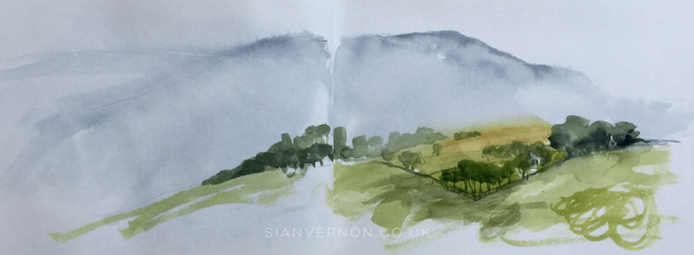 High Lees, Hathersage - Peak District Sketch