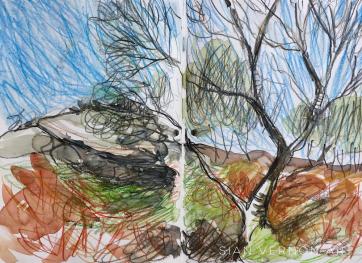 The Secret Garden (Hathersage) Peak District, art by Sian Vernon