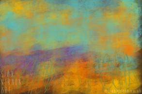 Sundown, Peak District Abstract Landscape Art - digital painting by Sian Vernon