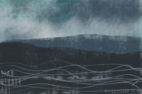 Waves, Seascape Painting - digital art by Sian Vernon