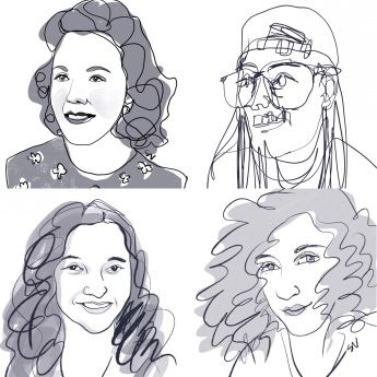 Illustrated portraits by portrait artist Sian Vernon