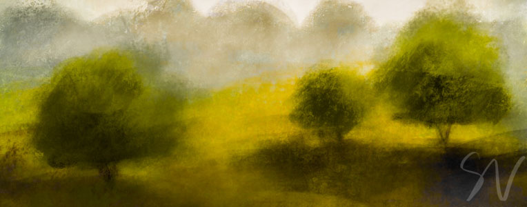 Driffield Countryside, East Yorkshire - digital sketch by Sheffield artist Sian Vernon