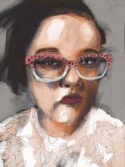 Digital painting of MayTheGrassStayGreen, portrait by artist Sian Vernon