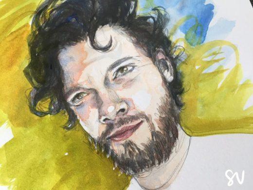 Watercolour portrait by portrait artist Sian Vernon