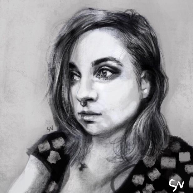 Suckstoyerassmar portrait digital painting by portrait artist Sian Vernon