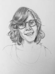 Natsavitas graphite pencil portrait by portrait artist Sian Vernon