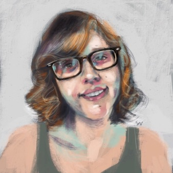 Natsavitas portrait digital painting by portrait artist Sian Vernon