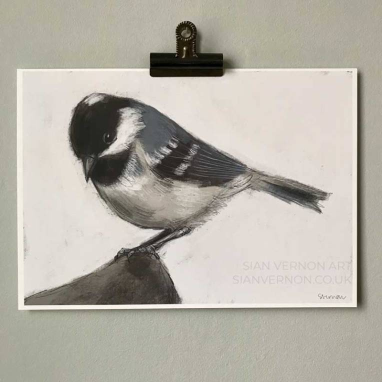 Coal tit art print