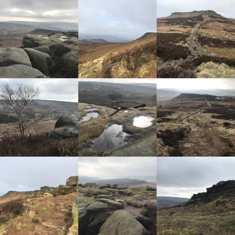 Winter moorland colours, Higger Tor, Peak District