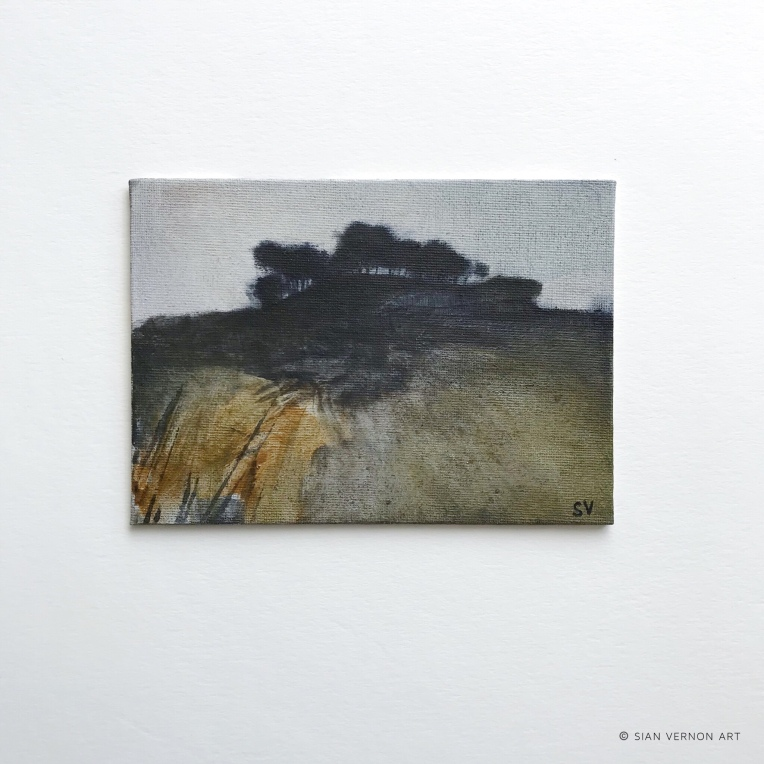 A Moorland Outlook, original Peak District art for sale