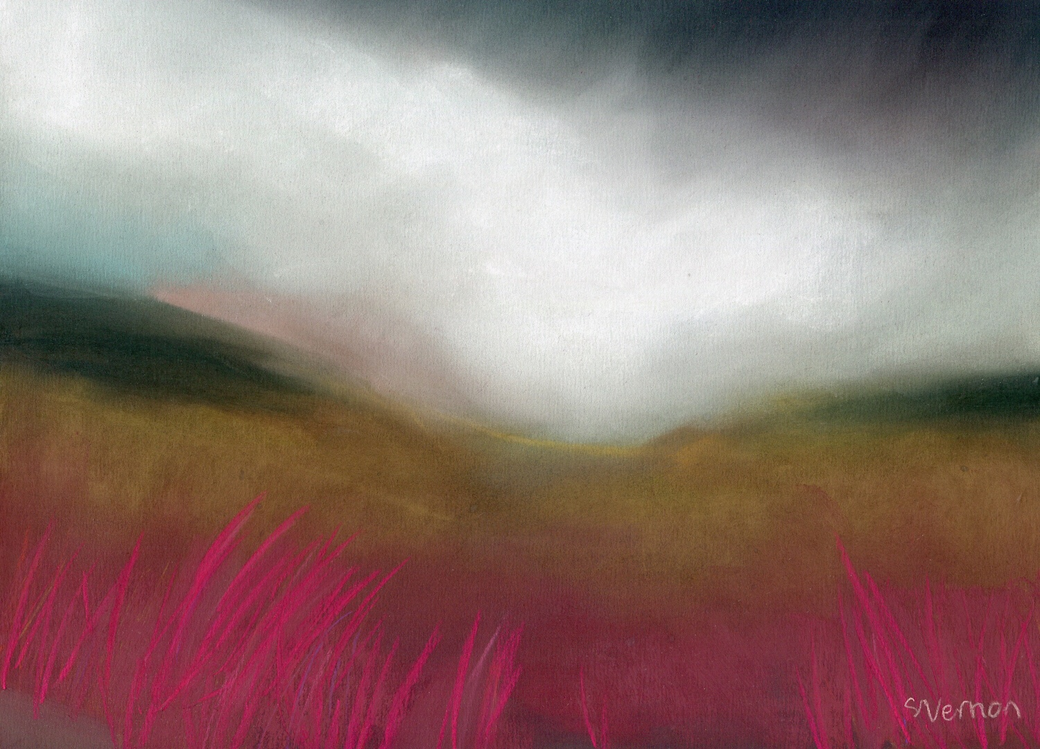 Peak District landscape painting by Sheffield artist Sian Vernon