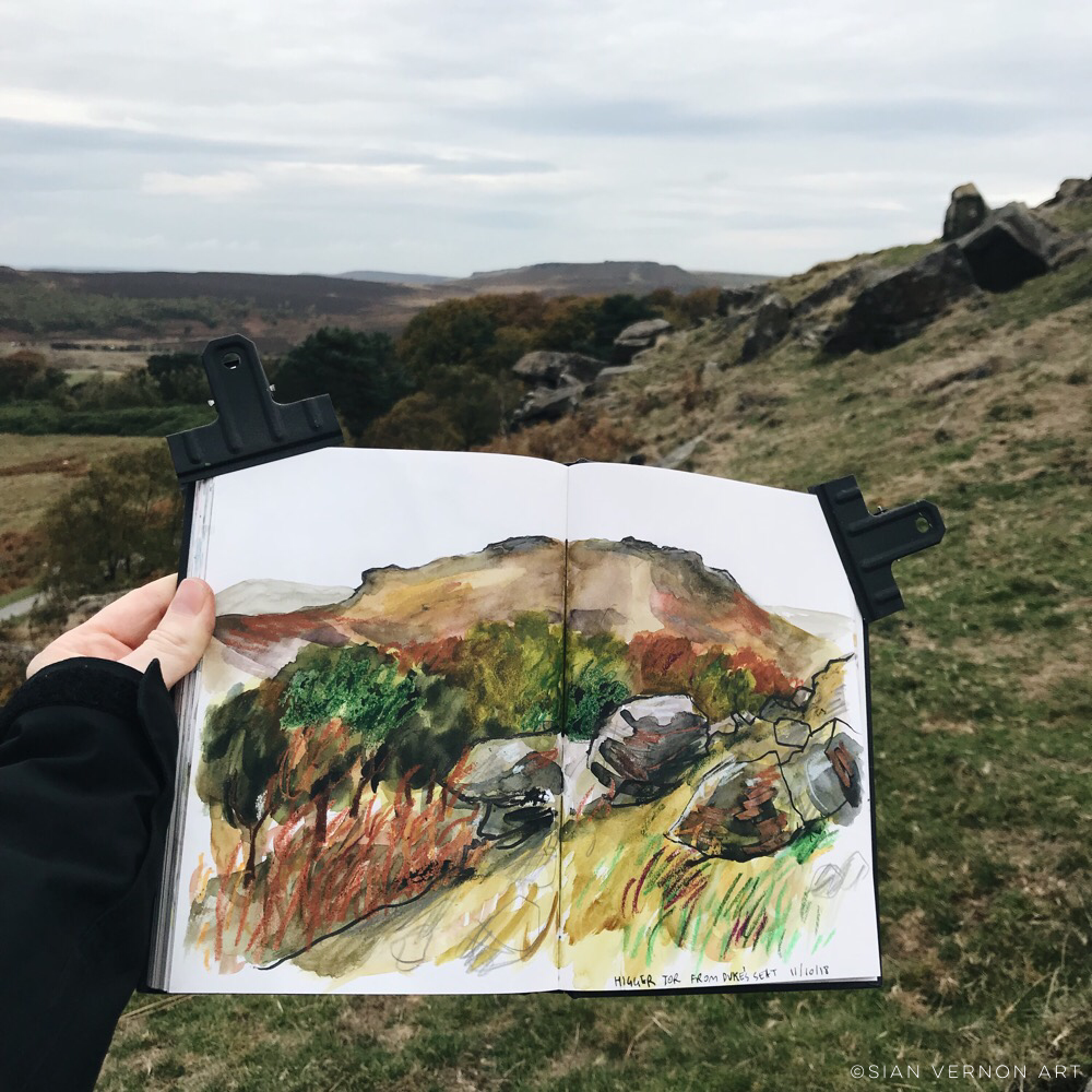 Sketching at Longshaw